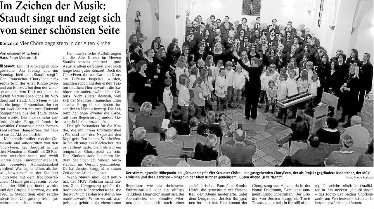 Im Zeichen der Musik... WZ vom 22.11.2011